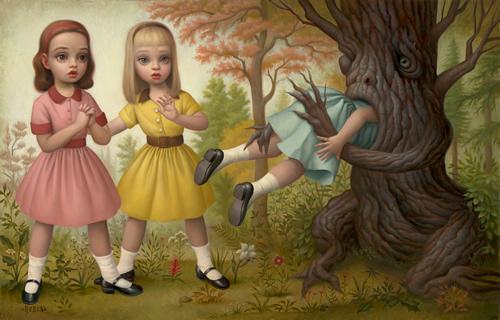 El arte Dark. Girl_Eaten_by_A_Tree