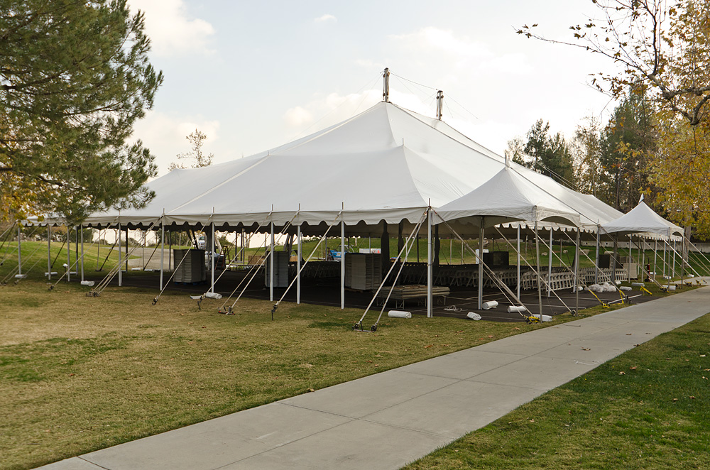 Fall 2011 Graduation tent