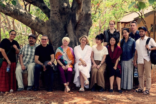 &quot;Living Home: India&quot; Designmatters students, faculty and staff in Bangalore, India last summer.