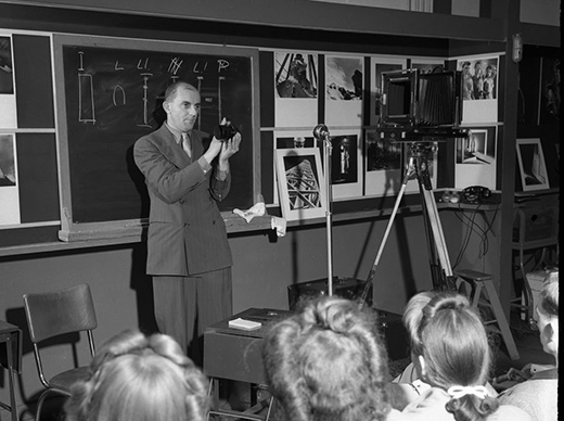 Ansel Adams at Art Center c1942