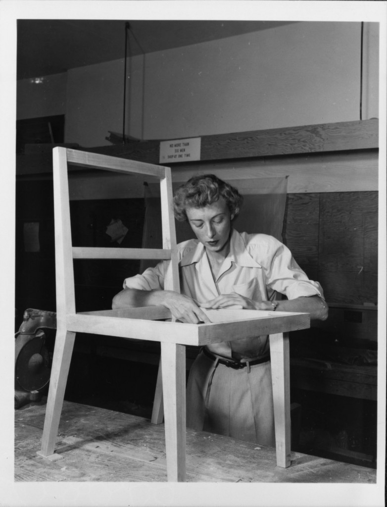 Art Center student Dorothy Krapf in 1949