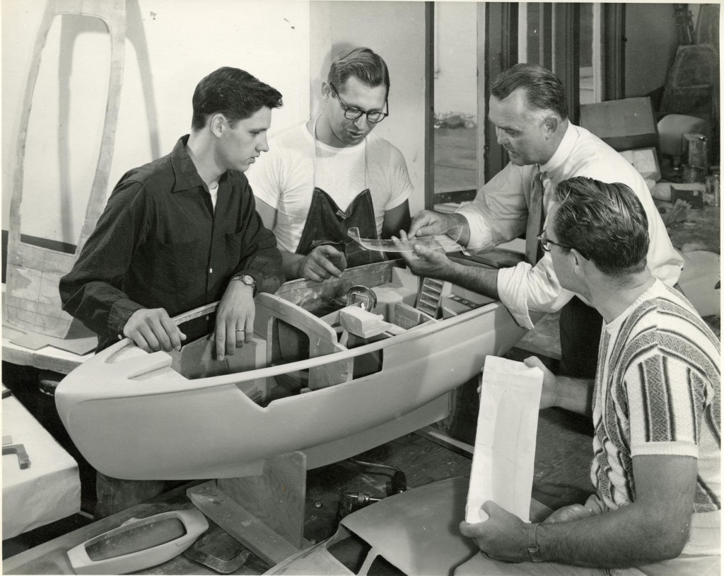 George Jergenson with Art Center students in 1951