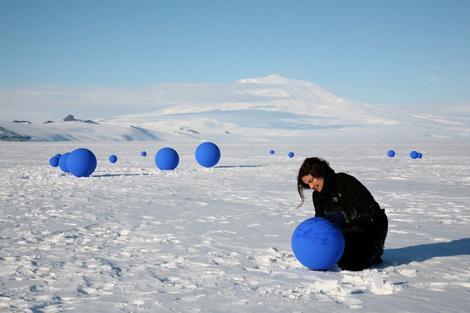 Lita Albuquerque in Antarctica