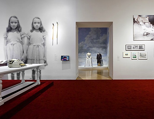 Installation image from LACMA's &quot;Stanley Kubrick&quot; exhibition. Photo: LACMA