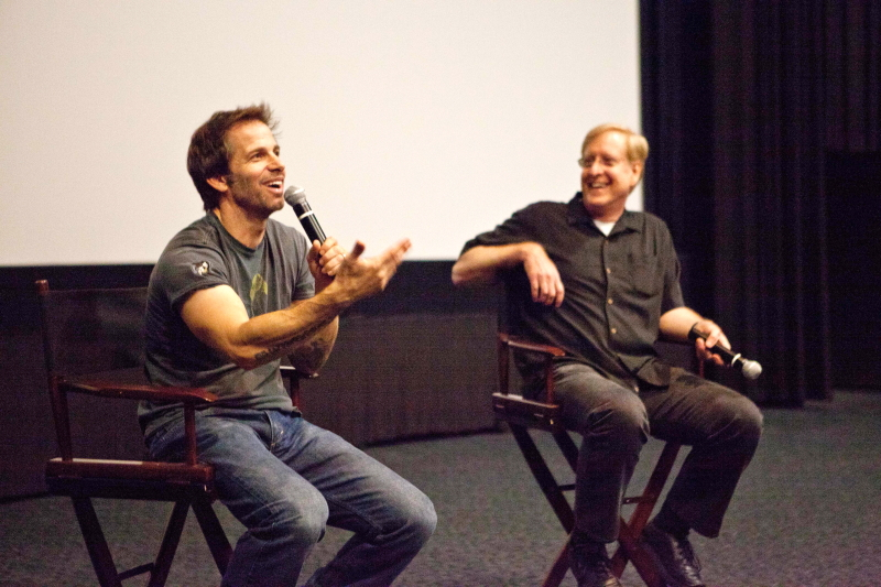 Man of Steel director and Art Center Film alum Zack Snyder answers audience questions with Film Department Chair Ross LaManna after an exclusive screening of the movie for the Art Center community on June 5. Photo by Seo Hiroyuki.