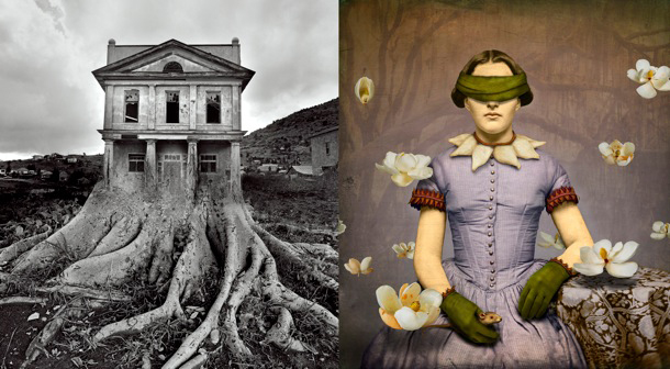 "Jerry Uelsmann's ""Untitled"" and Maggie Taylor's ""Magnolia Charmer"""