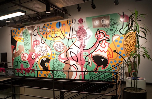 Keith Haring painted this mural at Art Center shortly before his death