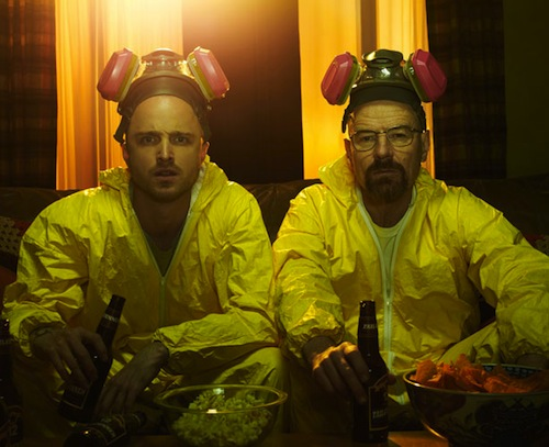 Aaron Paul and Bryan Cranston in Breaking Bad