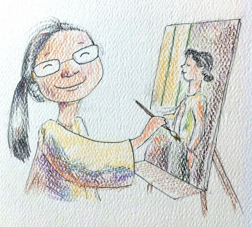 Self portrait by Christina Yang