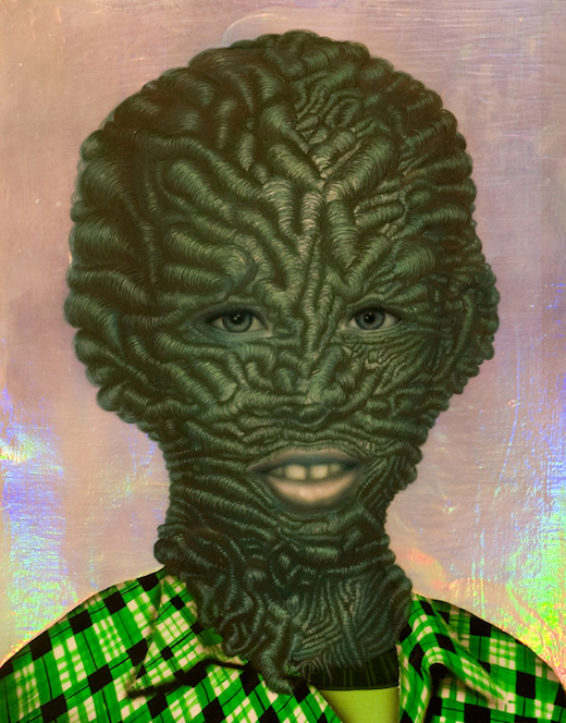 """Boy with Green Plaid Shirt"" (2011) by Erik Mark Sandberg."