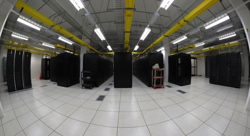 The data center at One Wilshire