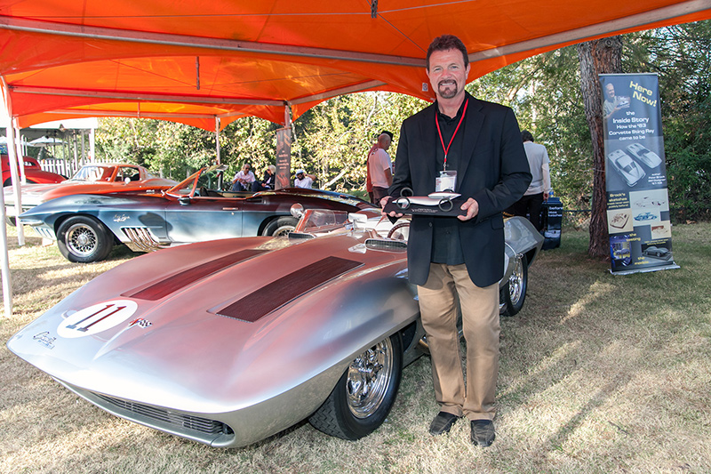 Clay Dean with General Motors Design's 1959 Chevrolet Corvette Racing Stingray