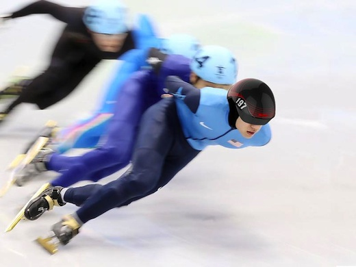 Student Mathias Hintermann's Aiguille short track speed skater headgear won a Spark! Award.