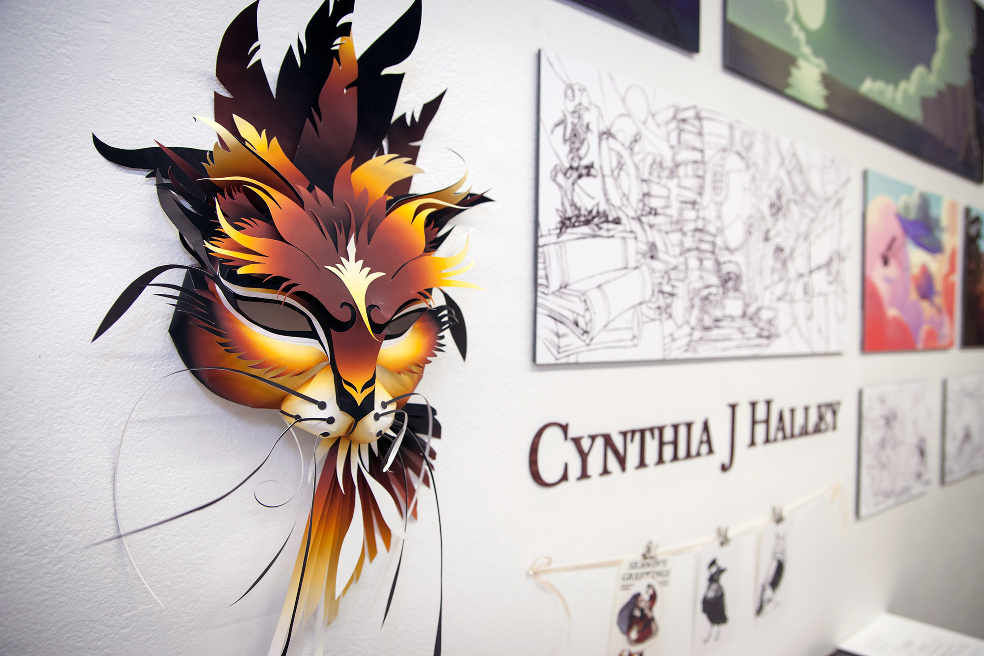 Cynthia J. Halley's cat mask