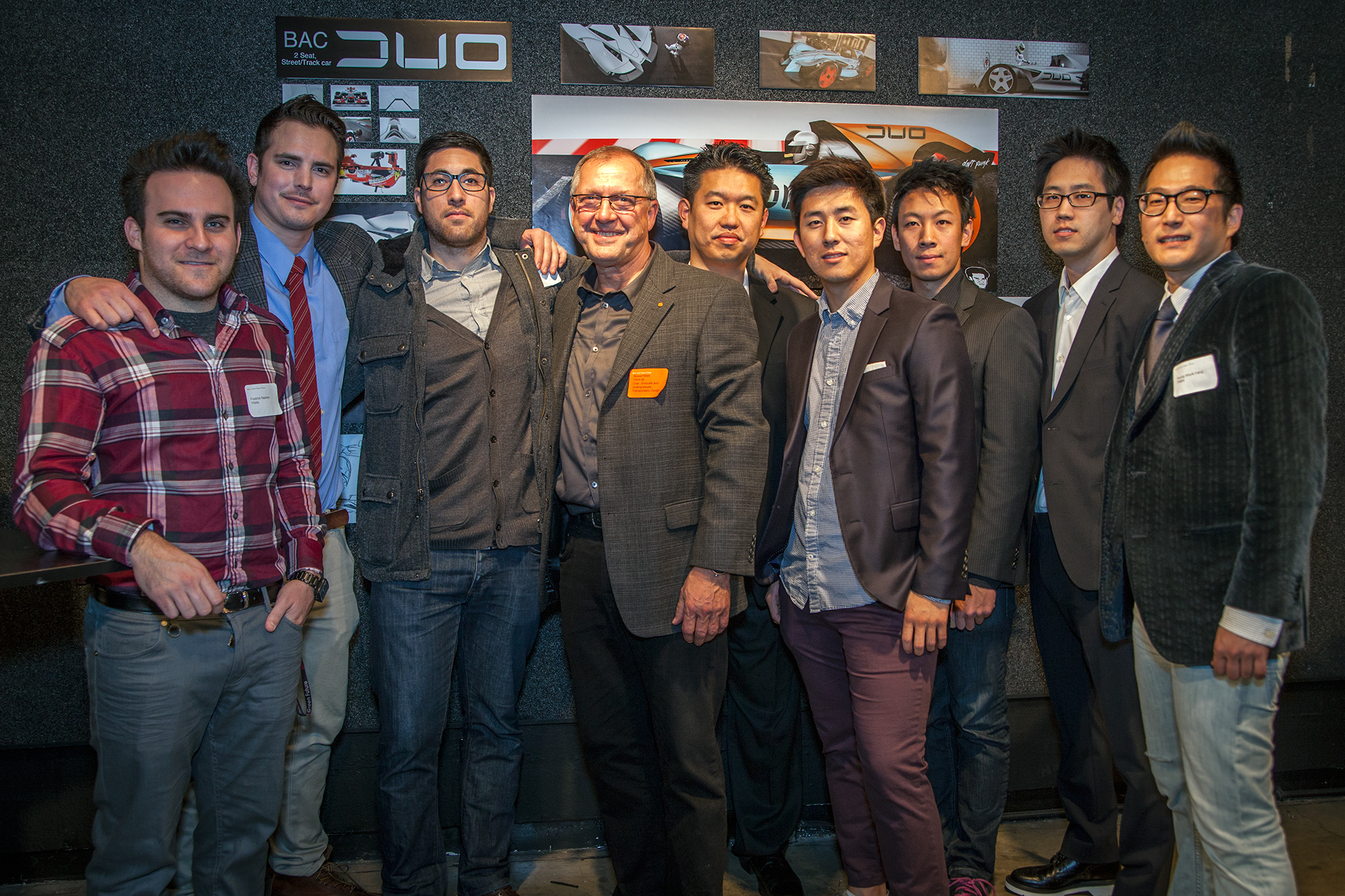 Transportation Design Graduates with Department Chair, Stewart Reed