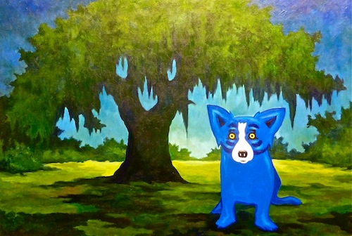 Blue Dog Oak by George Rodrigue