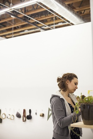 Fine Art student Elizabeth Freeman gets organized in her new studio