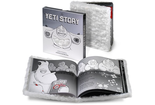 The Yeti Story — 36 pages, fur cover, die-cut silver slipcase, 8 x 8 in. (20.3 x 20.3 cm)