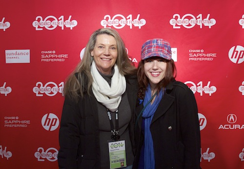 Second term Film student, Laura Holliday (left) poses at Sundance with her high school mentor, Betty Bailey