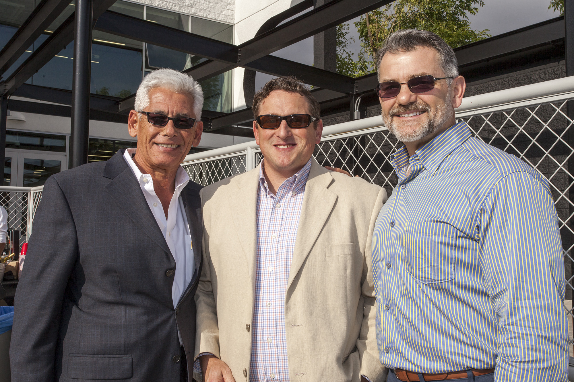 George Falardeau, Rollin Homer, and Rich Haluschak at the 870 opening party