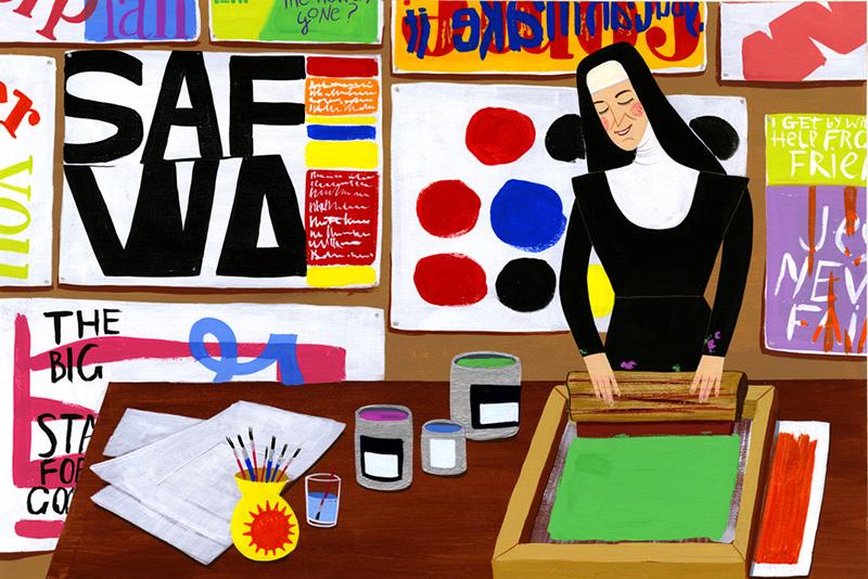 Sister Corita by Ellen Surrey
