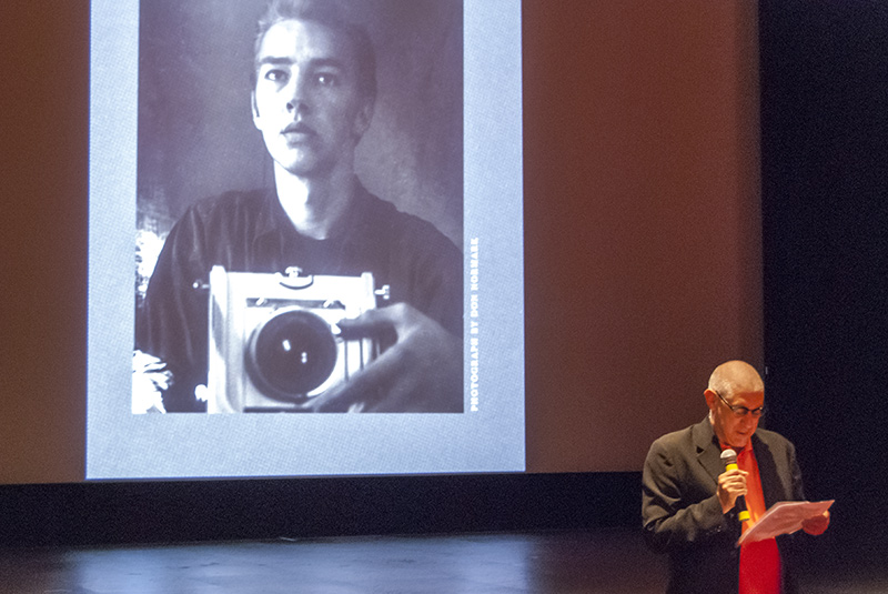 Photography and Imaging Chair Dennis Keeley at Don Normark's memorial service at Art Center on June 21, 2014