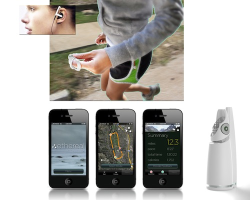 Kevin Bethune designed Ethereal, a fitness app and device, as a Grad ID student.