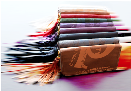 Saeri Dobson designed these wallets to support Bangladeshi girls and women rescued from brothels.