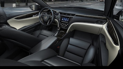 2013 XTS Platinum interior in production form. (Photo courtesy of General Motors)