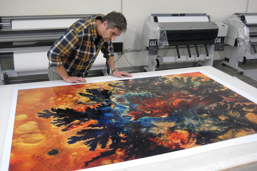 Artist and ACN instructor Andrew Hall in his studio. Courtesy of the artist.