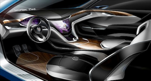 Park's sketch for the Cadillac XTS Platinum interior. (Image courtesy of General Motors)
