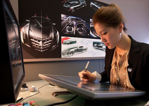 Christine Park at the Cadillac Design Studio in Michigan. (Photo courtesy of General Motors)