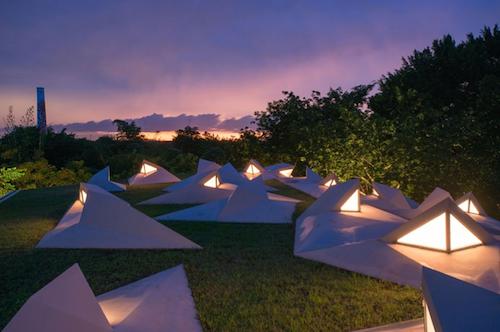 Tecoh roof garden at dusk. Photo: Jaime Navarro Soto