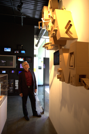 Buchman in the Student Gallery. Photo: Chuck Spangler