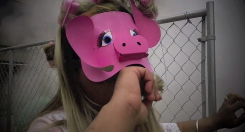 Still from Anuj Vaidya's short film Miss Piggy, Live with Diane Sawyer (2013)