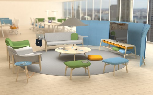 """Soft Working"" office furniture by Hines Fischer"