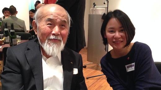 Kenji Ekuan and Graphic Design alumna Tomo Ogino (BFA 12) at last year's Tokyo Reunion.