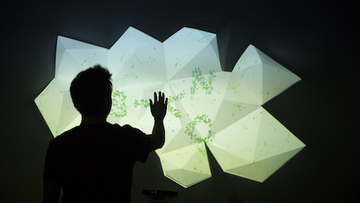 Graphic Design alumnus Michael Noh's (BFA 14) SYNC project. Photo: Alex Aristei