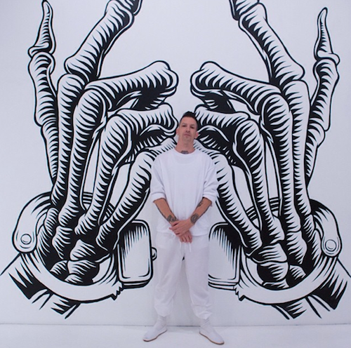 """Jesse Hazelip launches his first solo show, """"Mark of Cain"""" at Known Gallery in Los Angeles."""