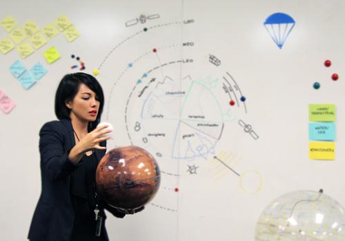 Jessie Kawata is a visual strategist at NASA + JPL