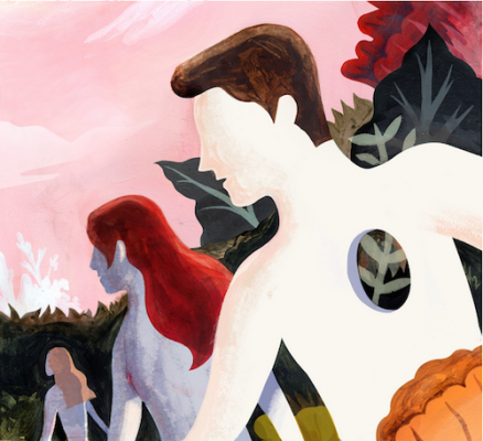 Illustration by Kim Ryu for the February 2, 2015 edition of the New York Times Sunday Book Review