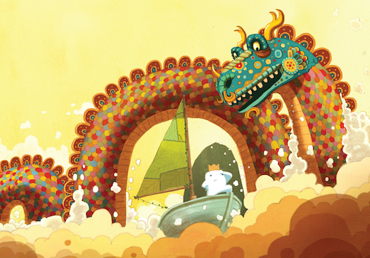 Detail of an illustration from Beekle by Dan Santat. Courtesy Little, Brown Books for Young Readers