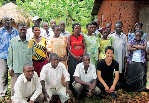 Media Design Practices alumnus Jeffrey Hall, in black T-shirt, conducted fieldwork in Uganda before being named UNICEF's Innovation Lab Lead for Indonesia.
