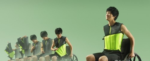 Kira Song's floatation vest for brain-injured athletes with limited motion.