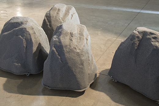 """These """"rolling stones"""" were created using objects which were solely purchased online. Photo: m-a-u-s-e-r"""
