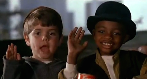 Spanky and Stymie form a partnership in Paul Guay's The Little Rascals (1994).