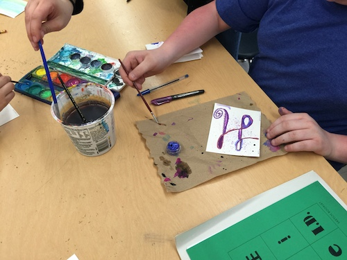 Leiman's students explore monogramming