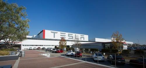 Tesla factory in Fremont, California. Courtesy of Tesla.