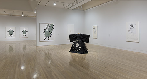 Installation view of UH-OH: Frances Stark 1991-2015. October 11, 2015–January 24, 2016. Hammer Museum, Los Angeles. Photo: Brian Forrest.