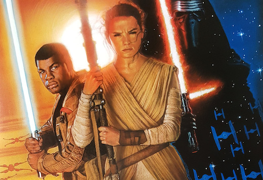 Star Wars: The Force Awakens poster by Drew Struzan. Image courtesy of Disney/Lucasfilm 2015